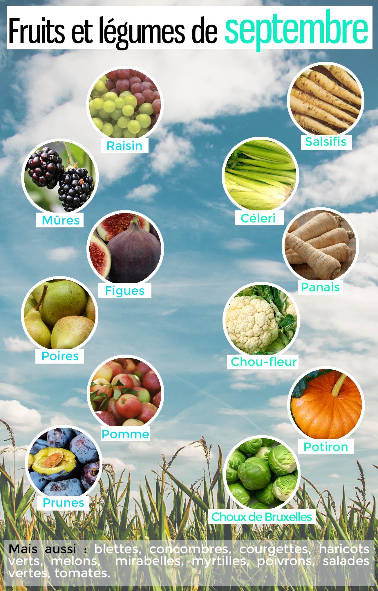 Les fruits et légumes de saison en septembre pour manger équilibré