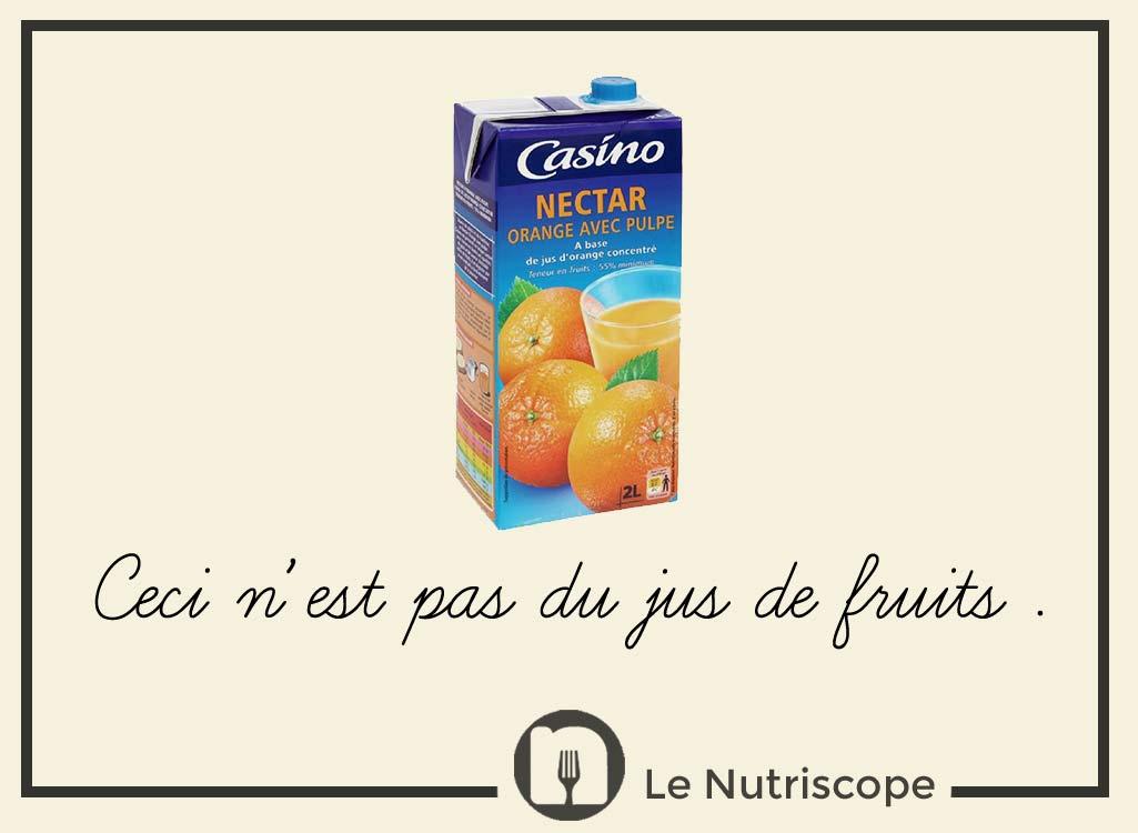 Différences nutritionnelles jus de fruits, nectars et smoothies
