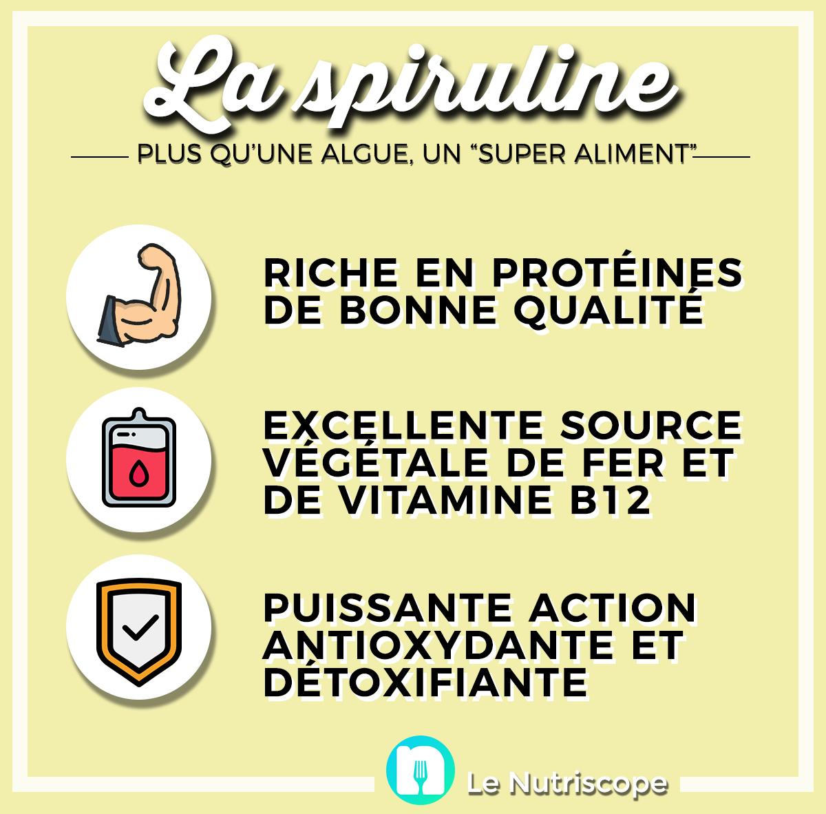 Nutrition-santé : les propriétés nutritionnelles de la spiruline